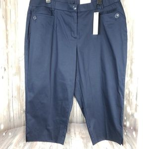 Cato Navy Cropped Pants Career Business Work 20W
